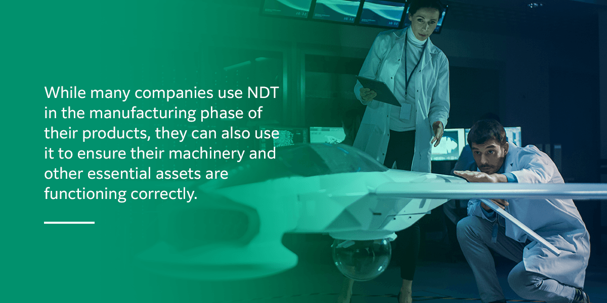 What industries is NDT used in
